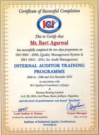 internal_auditor_training_ravi_agarwal