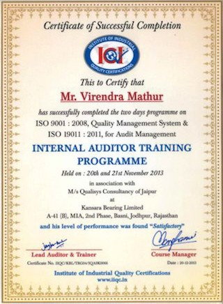 internal_auditor_training_virendra_mathur